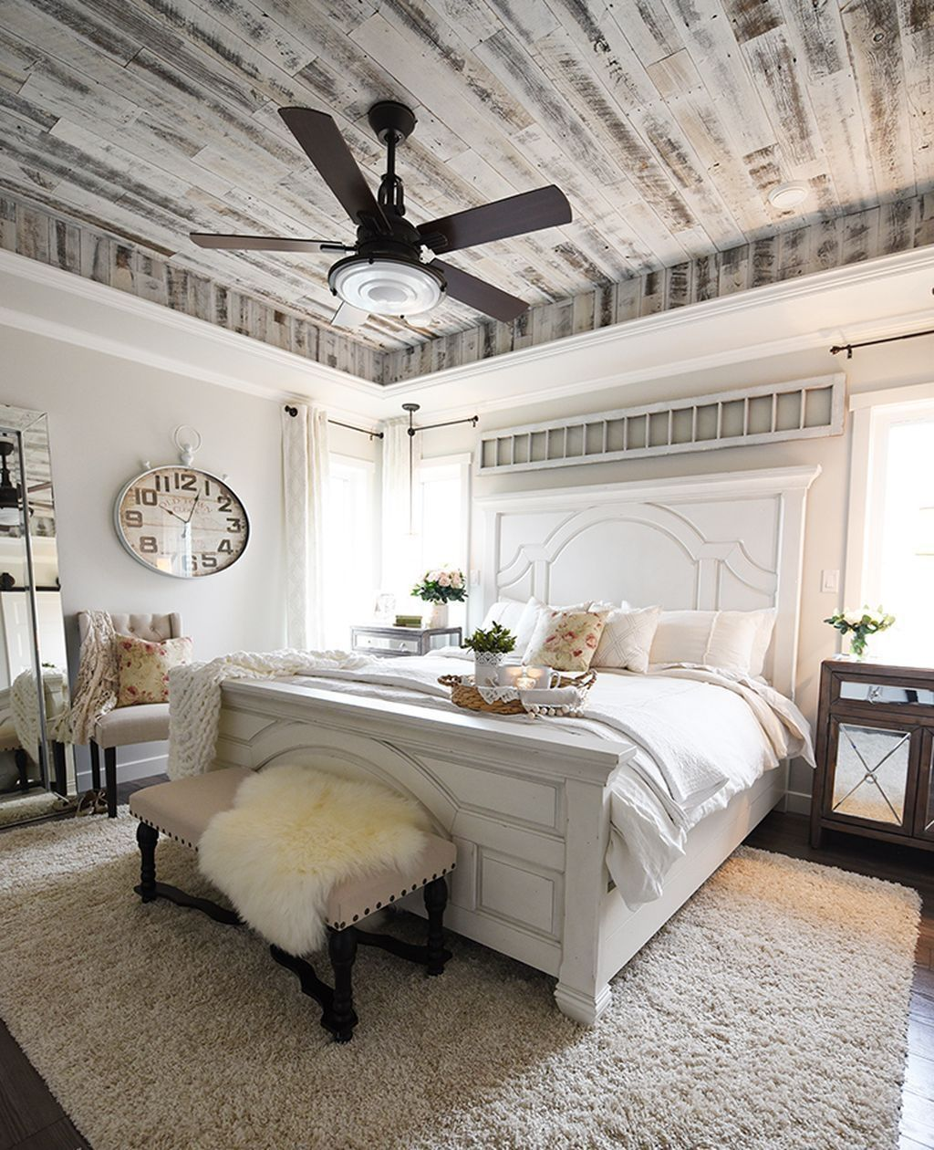 Nice 88 Romantic Rustic Farmhouse Master Bedroom
