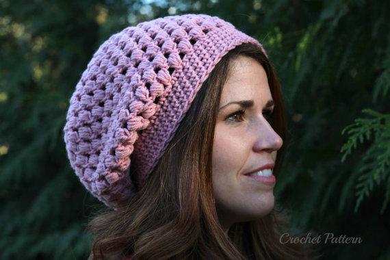Crochet Pattern Crochet Slouch Hat Pattern Chunky Slouchy Hat