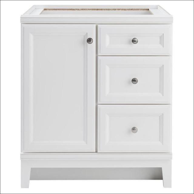 30 X 21 Bathroom Vanity White