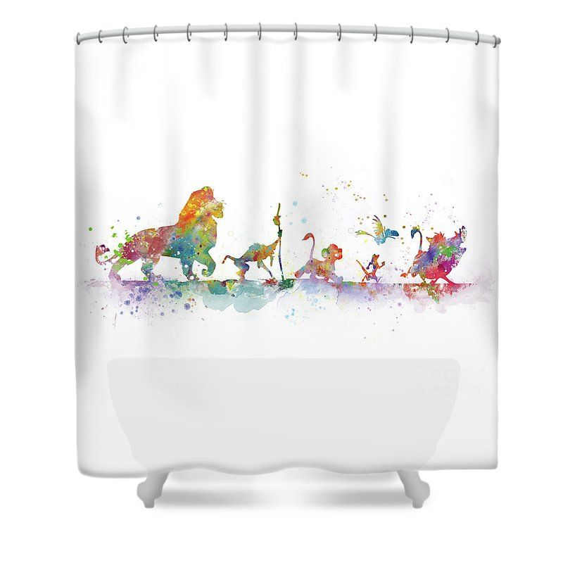 The Lion King Shower Curtain For Sale By Monn Print