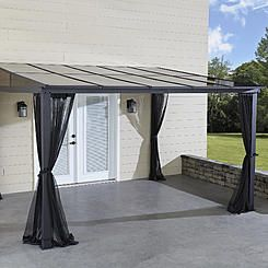 Grand Resort 10x12 Add A Room Gazebo With Netting Aluminum Gazebo Gazebo Hardtop Gazebo
