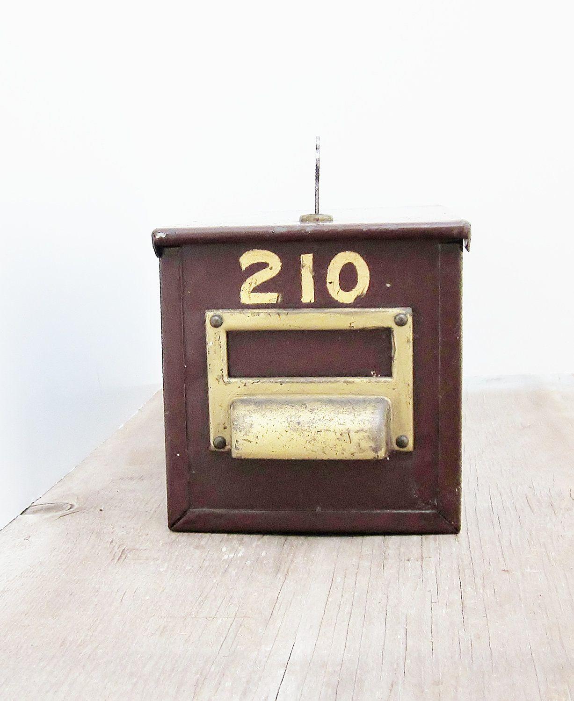 Metal Lock Box Safety Deposit Box Vintage Commercial