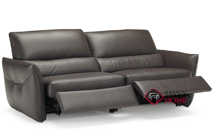 Versa B842 146 Reclining Leather Sofa By Natuzzi Editions Open