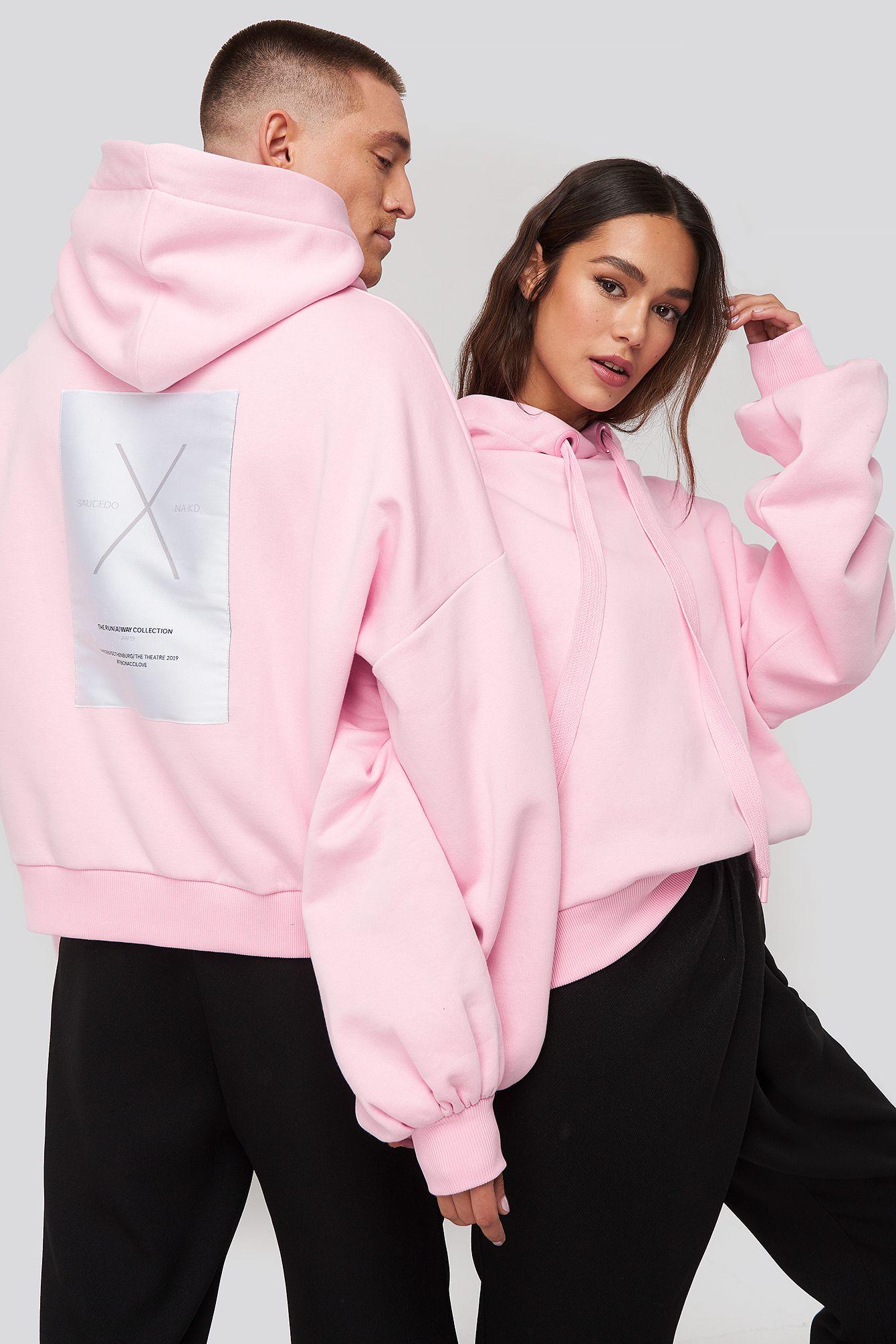 Danny Saucedo X Na Kd Dropped Shoulder Oversized Hoodie Pink Modesens In 2020 Kapuzenpullover Urbaner Stil Kleidung