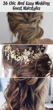 36 Chic And Easy Wedding Guest Hairstyles #weddingguesthairstyles 36 Chic And Ea...