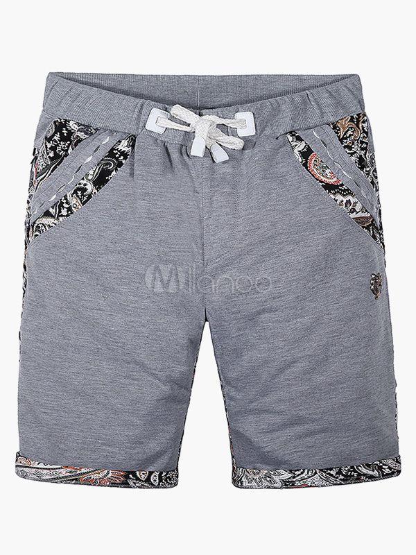 Woven Elastic Waist Cotton Shorts - Milanoo.com