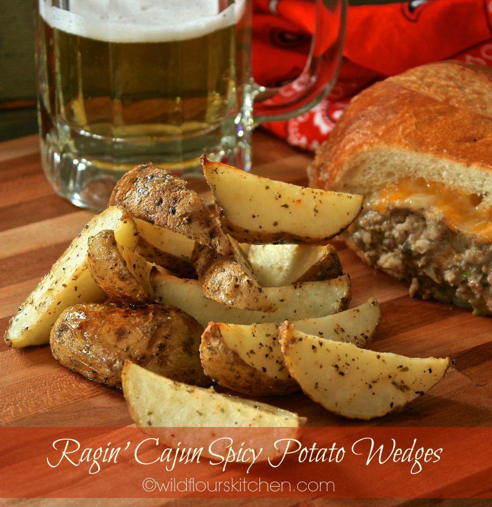 Ragin' Cajun Spicy Potato Wedges - Wildflour's Cottage Kitchen