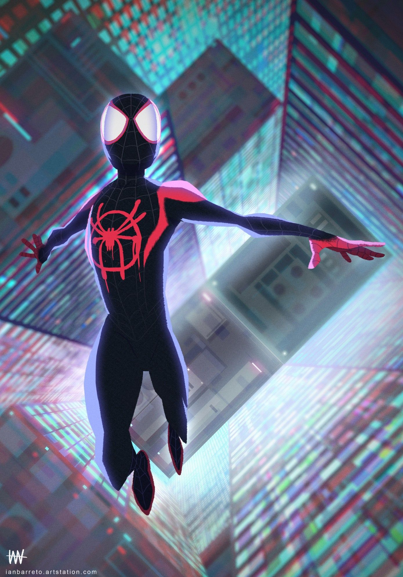 Spider Man Into The Spider Verse Spiderman Marvel Spiderman Miles Morales Spiderman