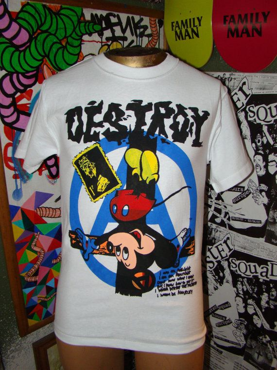 91bf249d96c71 destroy (COLOR version) crucified mickey seditionaries shirt
