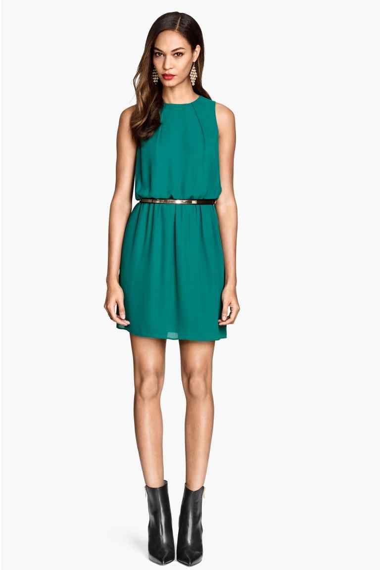 Vestido sin mangas turquesa 29,99 € - H&M