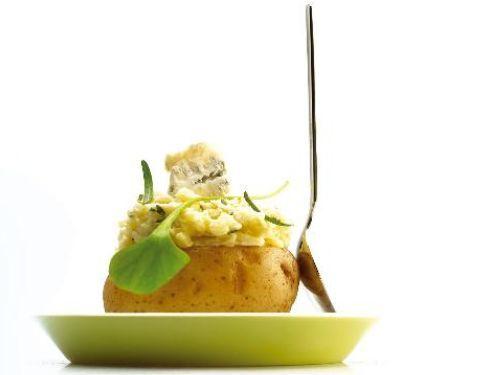 Kartoffeln mit Gorgonzola und Rosmarin
