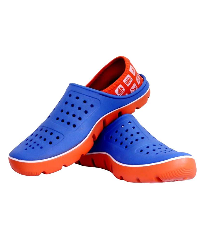 4c02b502c Vostro Blue And Orange Lifestyle Crocs For Men | Monsoon Must Have ...