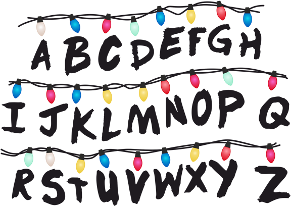 Stranger Things Clipart Transparent Banner Library Stranger Things Alphabet Wall Stranger Things Sticker Stranger Things Alphabet Wall Stranger Things Poster