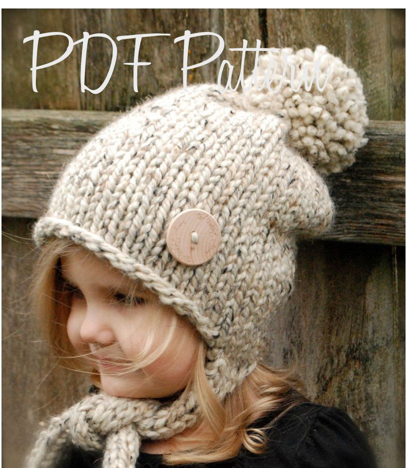 KNITTING PATTERN - Kymmber Slouchy (Toddler, Child and Adult sizes)