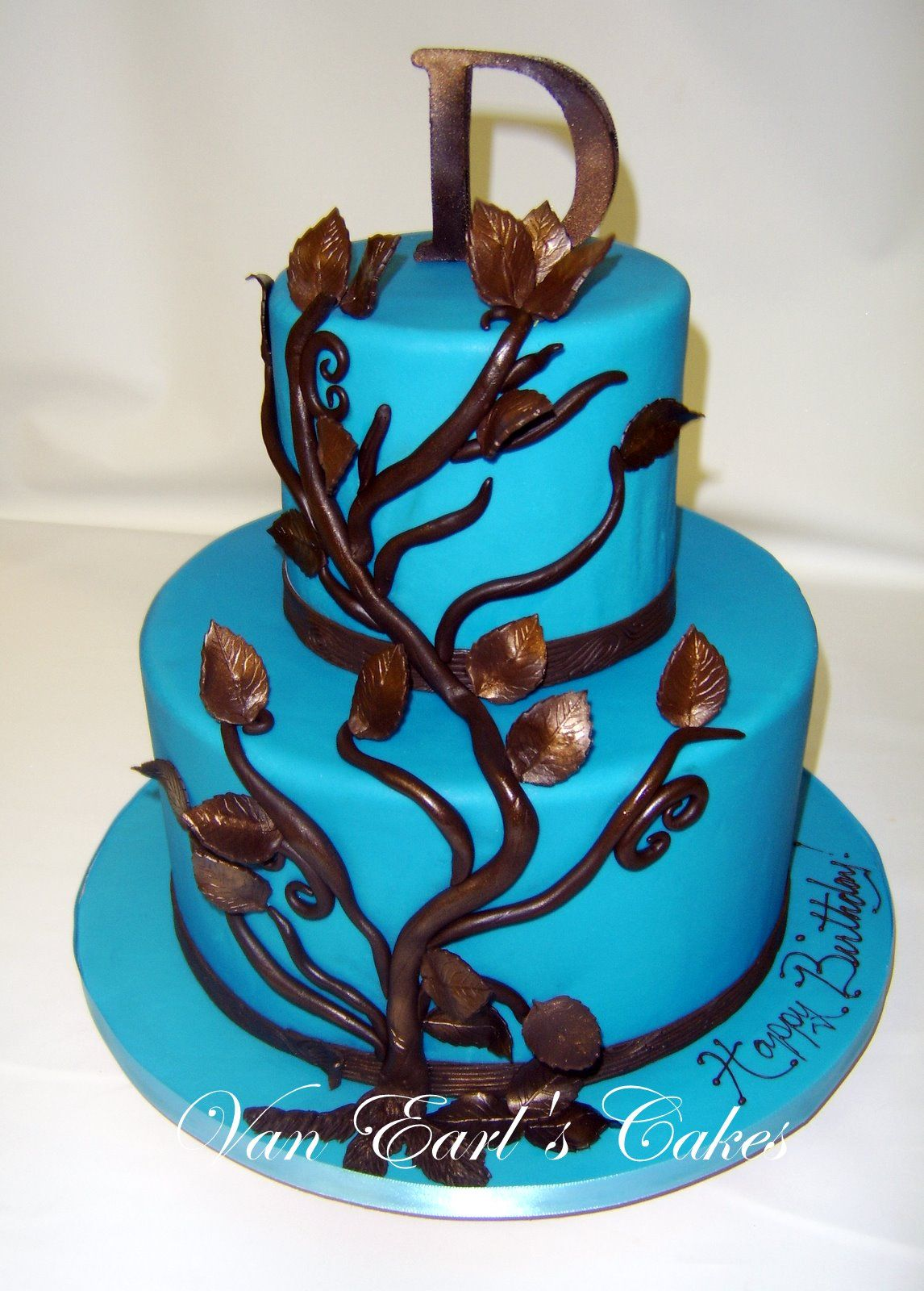Blue Birthday Cakes For Women Happy Birthday Cake Designs