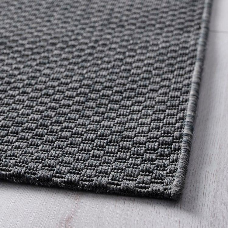 Ikea Morum Rug Flatwoven In Outdoor Indoor Outdoor Dark Gray Ikea Rugs Grey White Rug