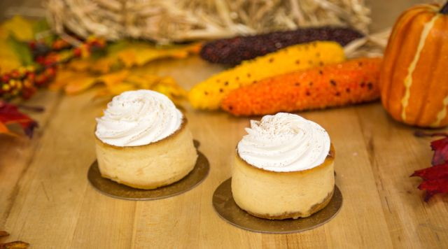 Our classic cheesecake gets a pumpkin twist for Fall! #carlosbakery