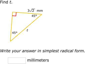 Practice Problems Improve Your Math Skills By Practicing Free Problems In Special Right Triangles Right Triangle Math Special Right Triangle