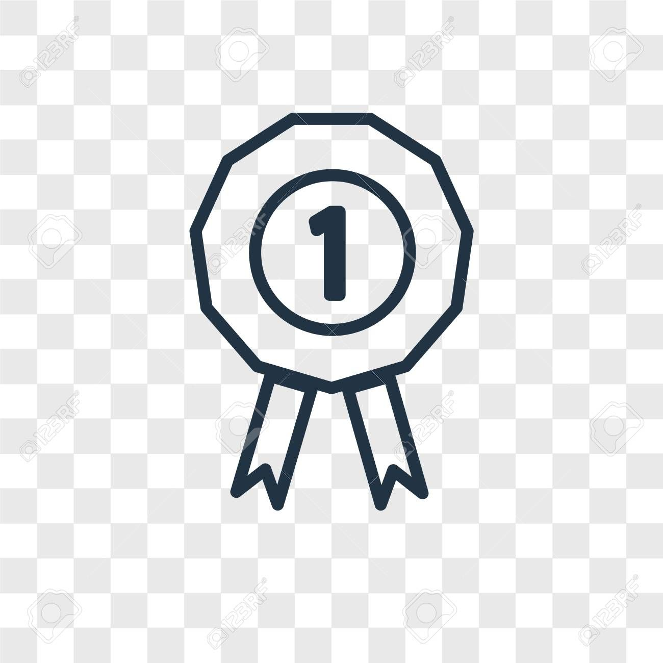 Prize Vector Icon Isolated On Transparent Background Prize Logo