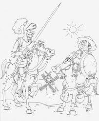Resultado De Imagen De Dibujos Para Colorear Don Quijote Dela Mancha Don Quijote Dibujos Imagenes De Dibujos