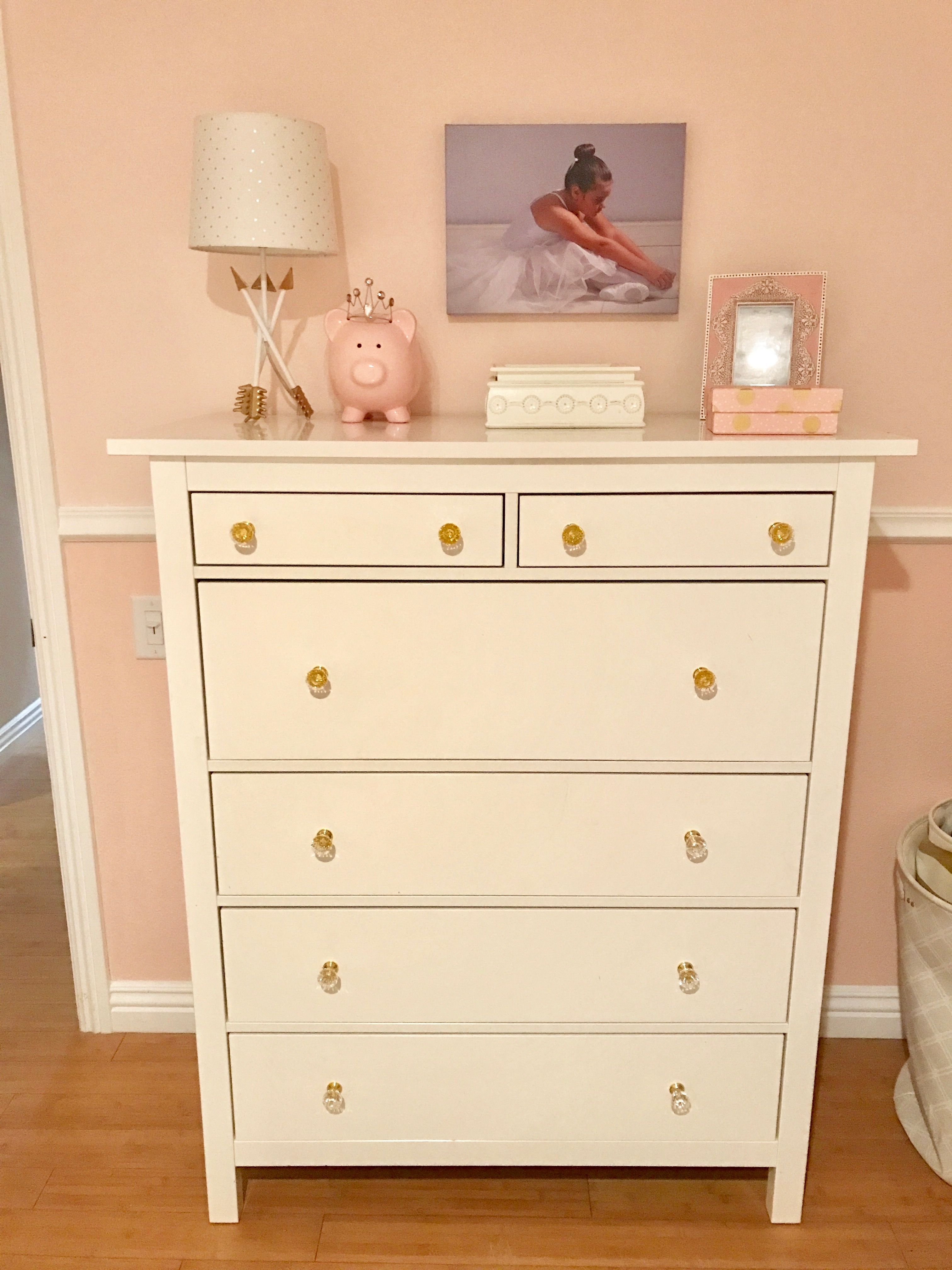 The Clear Acrylic And Gold S On Ikea Hemnes