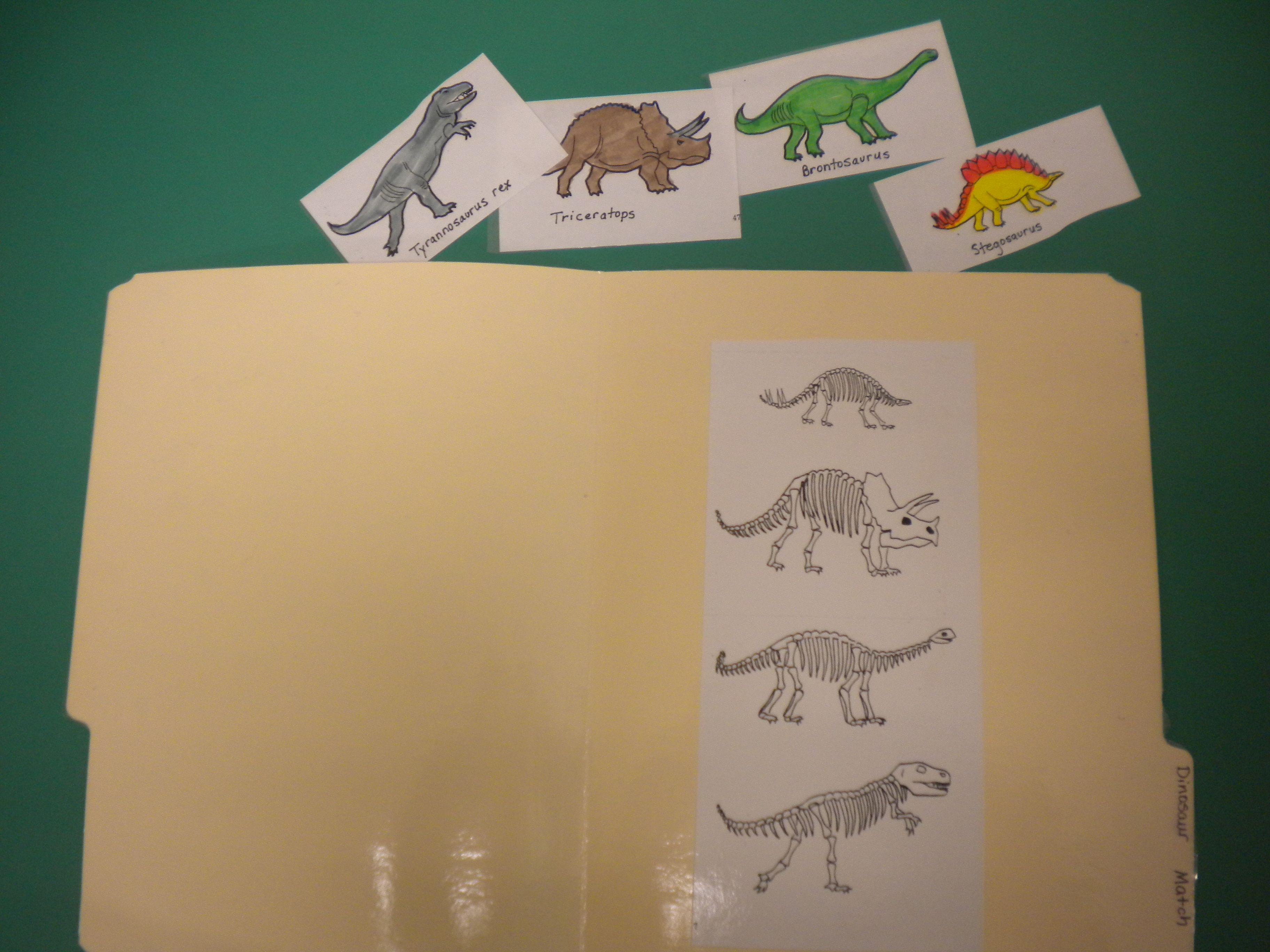 Dinosaur File Folder Game