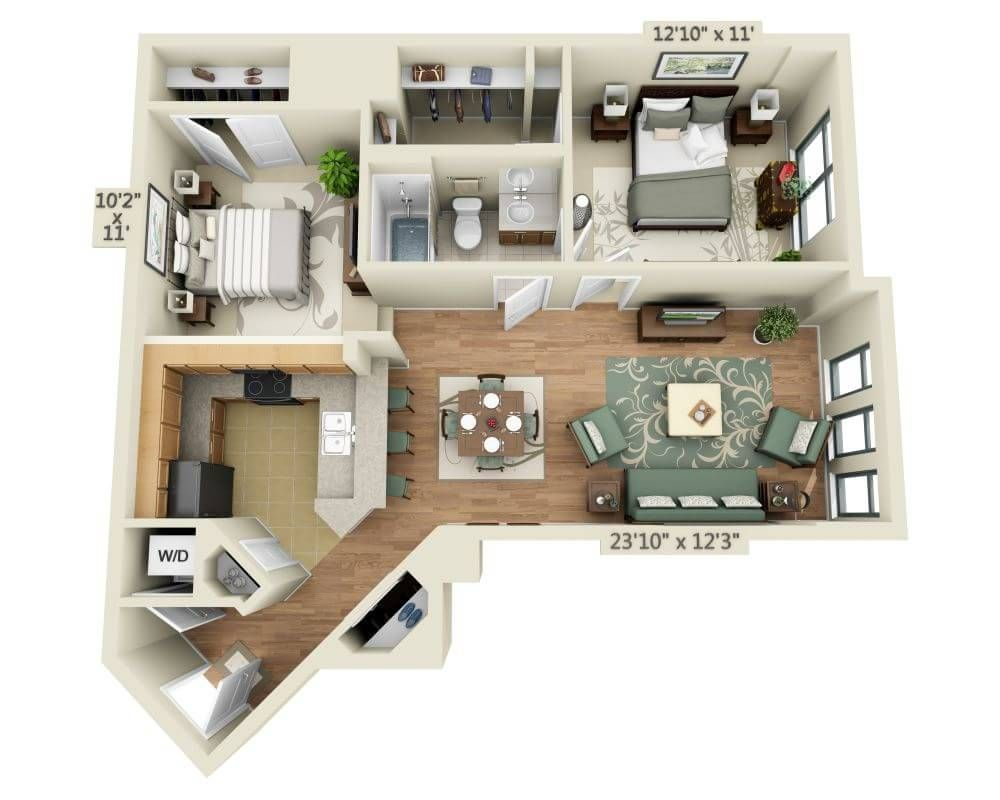 Delancy At Shirlington 1 Bed With Den 2200 Mo With Images
