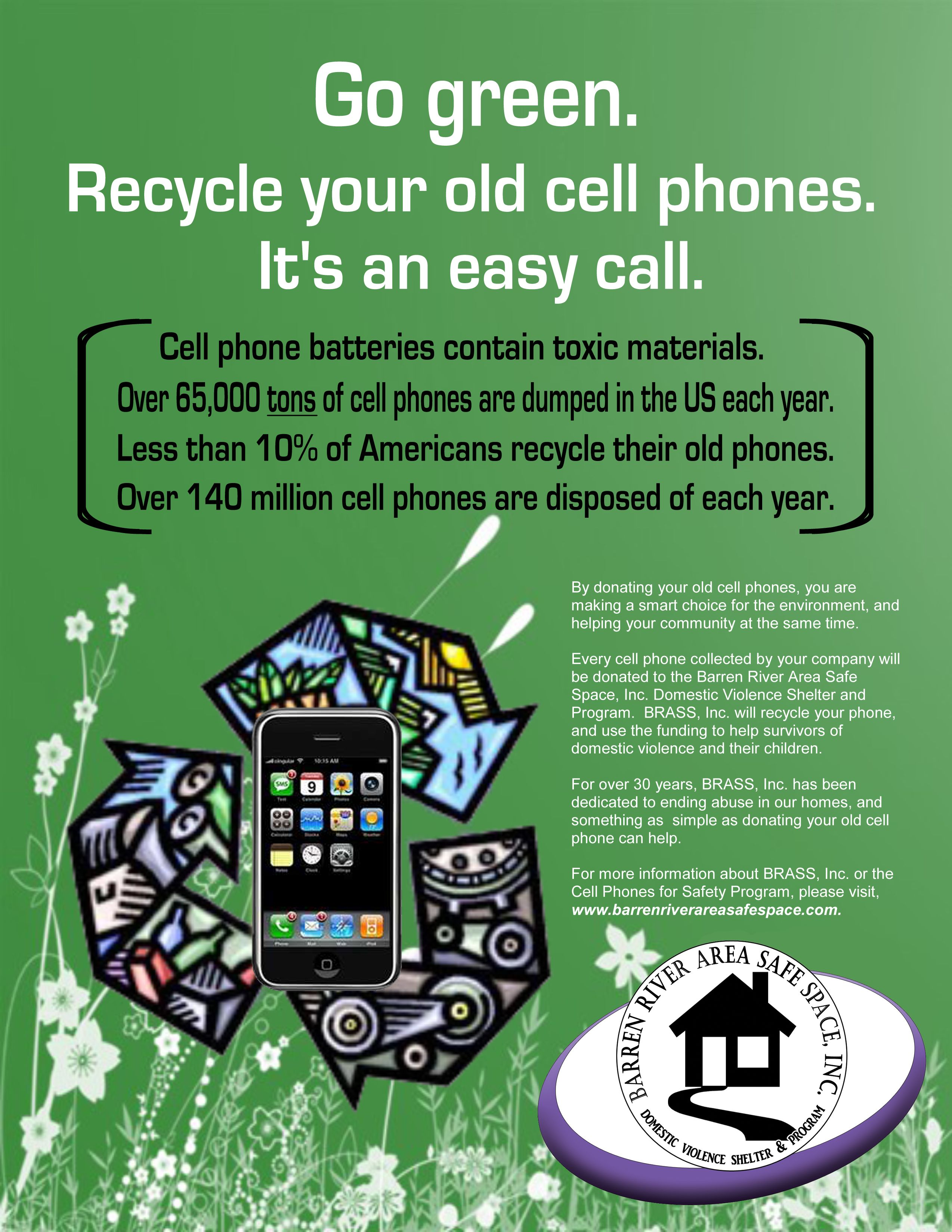 Donate Your Used Cell Phones To Our Shelter For More Information