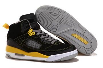 d3440dfbeadd99 Black Yellow Grey -Jordan Spizike 3.5 Suede Men Nike Sneakers