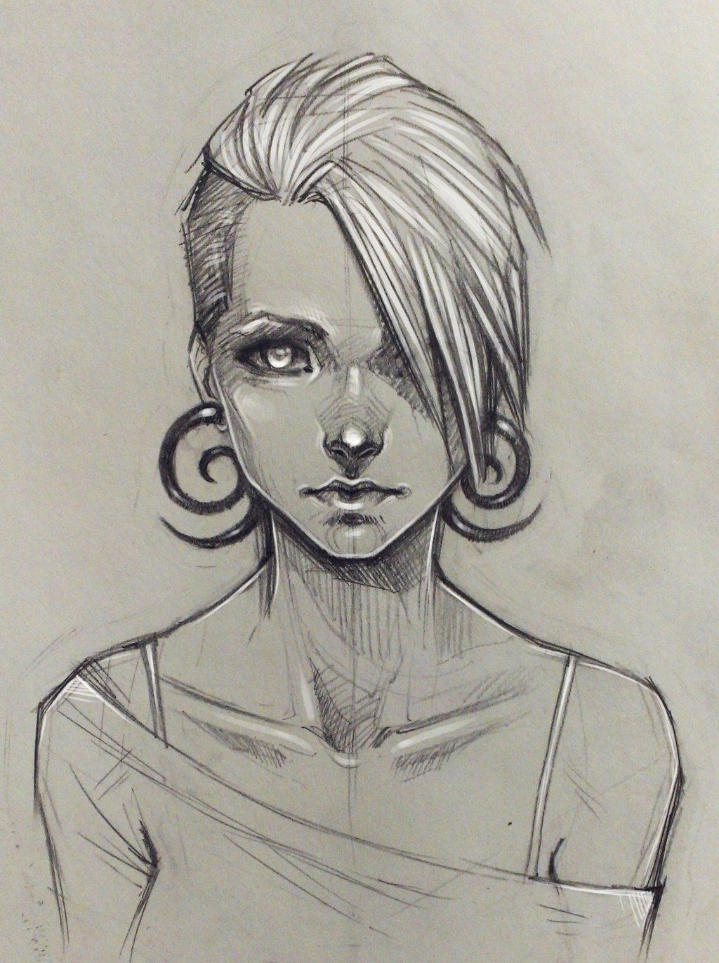 Random girl by on deviantart for What to draw inspiration