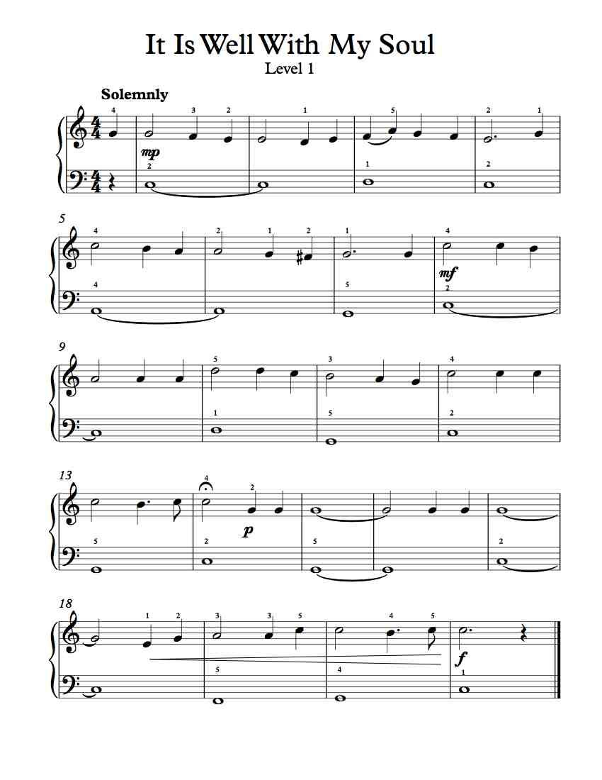 Very Easy Hymn Top Line Only For Violin Easy Key One Sharp To