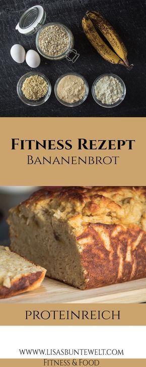 Protein-Bananenbrot hat nicht nur tolle Nähwerte, sondern ist auch einfach zuzubereiten. Ideal als p...