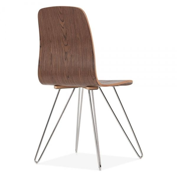 Cult Living Björn Dining Chair Walnut With Hairpin Legs Uk