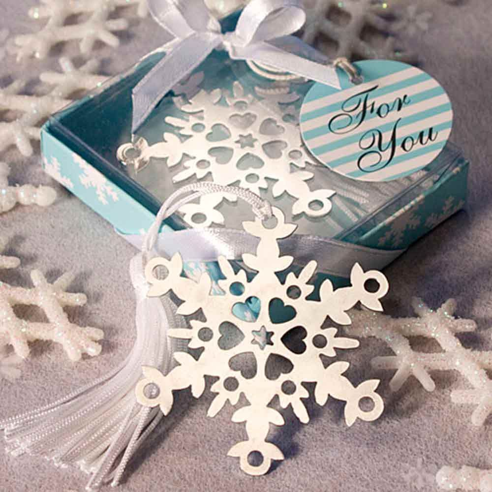 Snowflake Bookmark Wedding Favour Fabulous Wedding Favors