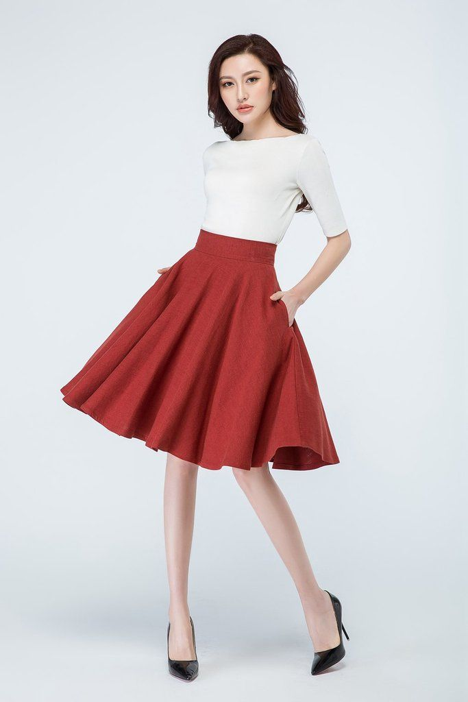 50s Skirt Fit And Flare Skater Skirt 1689 In 2019 Cute
