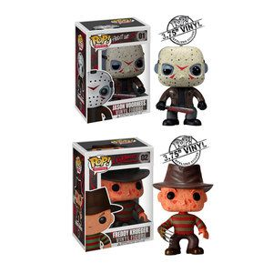 Fab.com | Frightful Figurines, how cute are Jason and Freddy? Not so scary now are they. lol