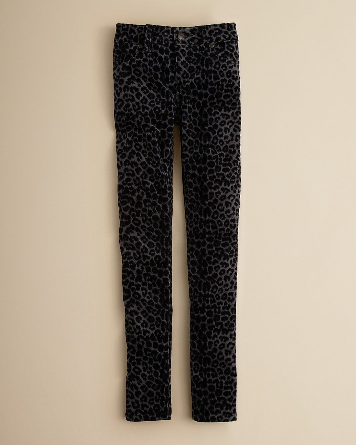 Joe's Jeans Girls' Velvet Leopard Print Jeggings