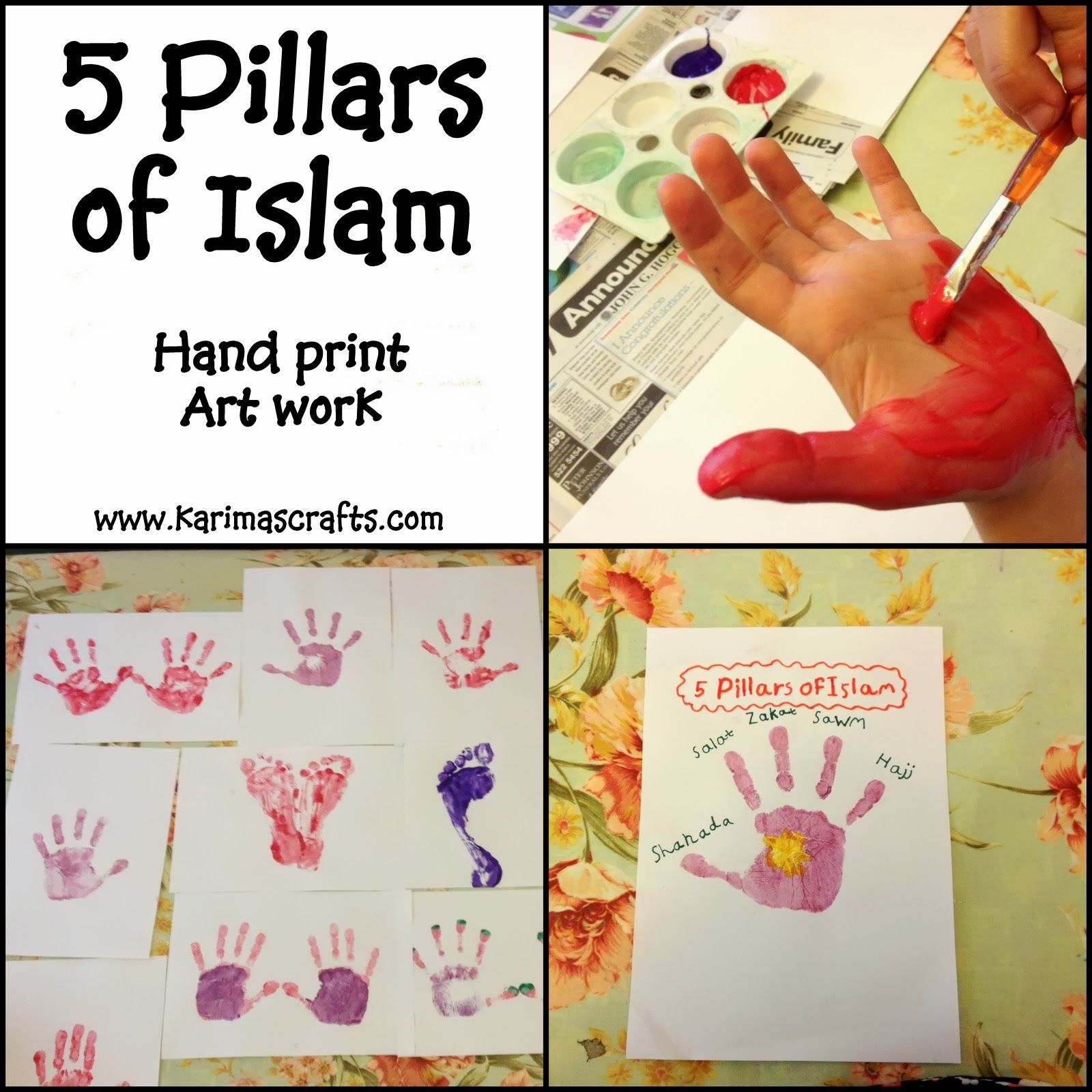 Crafts for one year olds - Day 18 5 Pillars Of Islam Crafts I Have Three Different Crafts For This Subject One Is A Structure One Is A Painting Project