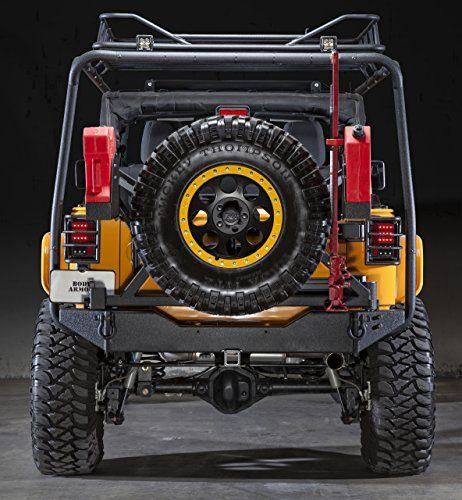 Body Armor 4x4 Black Steel JK Jeep Rear Bumper