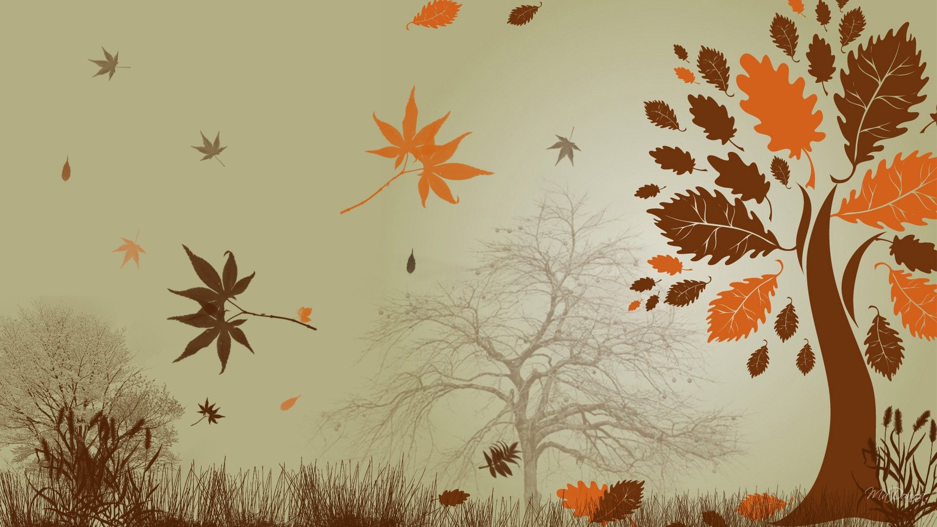 Рисунок на тему ноябрь