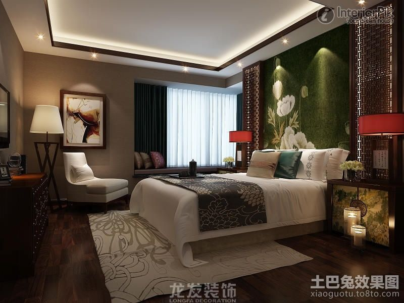 modern Chinese style | of modern Chinese style master bedroom renovation. Chinese-style ...