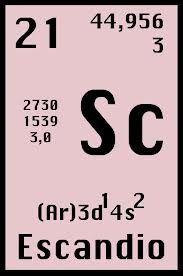 elemento qumico nm21 sc escandio