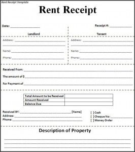 Examples Of Rent Receipts Rent Receipt Template   Best Word Templates   Free  Rent Receipt .  Free Rent Receipt Template Word