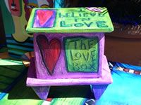 Green & Purple heart  Box by luon