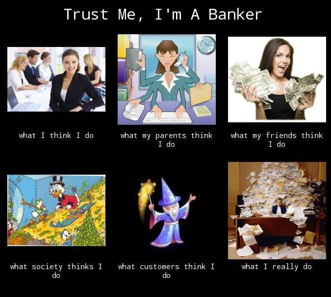 Banker dating meme