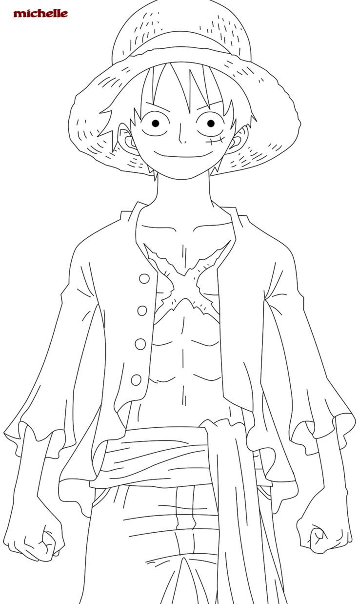 Monkey D Luffy One Piece Coloring Pages One Piece Drawing
