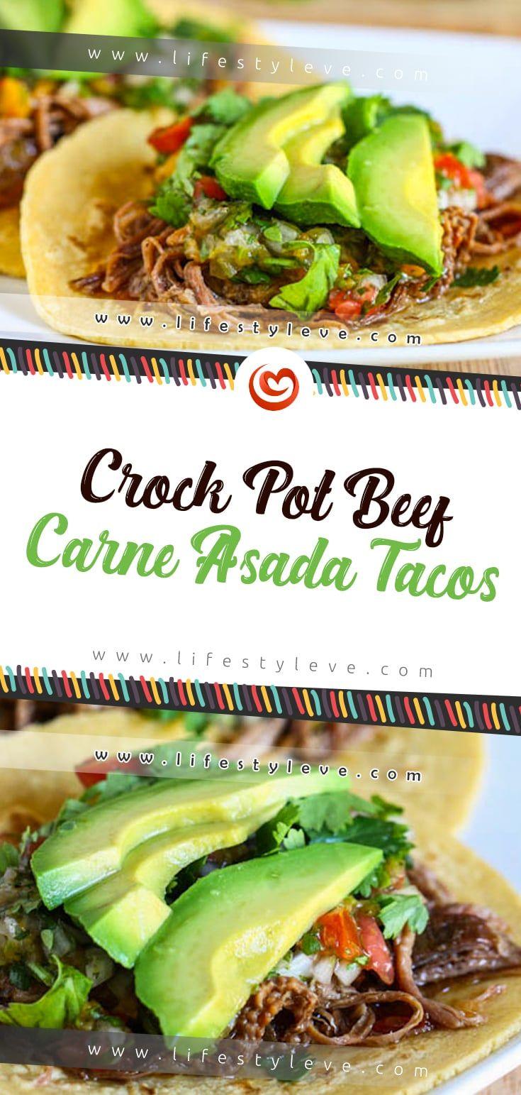 Crock Pot Beef Carne Asada Tacos #asadatacos