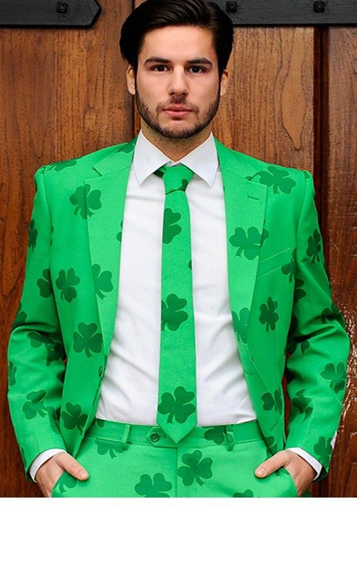 852b9eb0 This suit is the perfect compliment to St. Patrick's Day. Dress from head  to toe in a green, with matching tie too. #stpatricksday #irish #shamrock