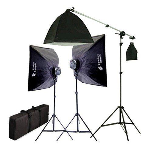 Amazon Com Cowboystudio 2275 Watt Digital Video Continuous Softbox Lighting Kit Boom Set Camera Softbox Lighting Kit Softbox Lighting Photo Studio Lighting