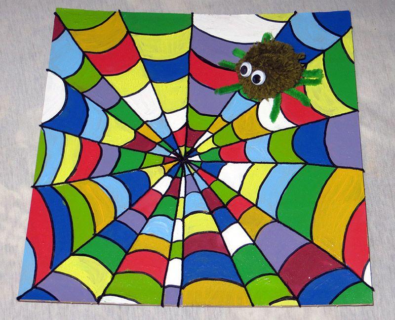 Buntes Spinnennetz Basteln Mit Kindern Malen